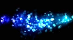 Abstract Particle Background - Loop Blue Stock Footage