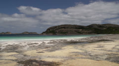 Pan of lucky bay beach in Cape Le Grand National Park Stock Footage