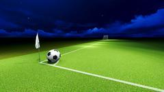 soccer ball and goal - stock illustration