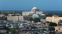 Old San Juan Puerto Rico urban Capitol building HD 0737 Stock Footage