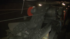 Mining - Underground Conveyor Stock Footage