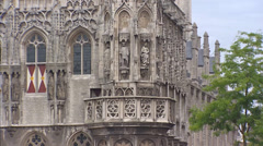 Late Gothic facade of the of medieval city hall, today Roosevelt Academy Stock Footage