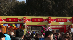 People in temple fair during Chinese Spring Festival in Beijing, Stock Footage