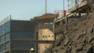 Mining - Truck Tipping Coal Stock Footage