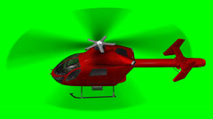 Helicopter flying - green screen Stock Footage