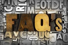 faq's frequently asked questions - stock photo