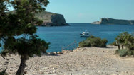 Stock Video Footage of Europe Spain Balearic Ibiza coves and landscapes 024 plateau of Rocas Malas