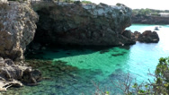 Stock Video Footage of Europe Spain Balearic Ibiza coves and landscapes 025 the cave from Rocas Malas