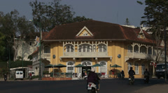 French Colonial Building in Da Lat - stock footage