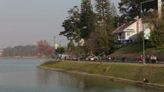 Xuan Huong Lake in Da Lat, Vietnam Stock Footage