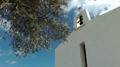 Europe Spain Balearic Ibiza towns and villages 008 old Spanish church Stock Footage