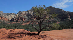 Panning view from the top of Submarine Rock in Sedona Stock Footage