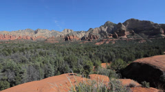 View from Submarine Rock in Sedona Stock Footage