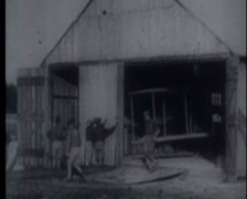 Wright Brothers First Tests 03 Stock Footage