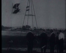 Wright Brothers First Tests 04 Stock Footage
