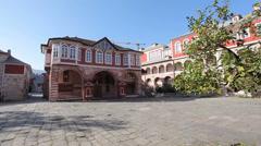 Vatopedi Monastery. Refectory. Stock Footage