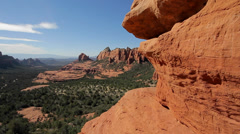 Scenic overlook in Sedona Stock Footage