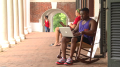 Exterior university grounds Stock Footage