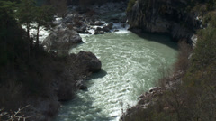 Gorge de Verdon Detail of River Bend Stock Footage