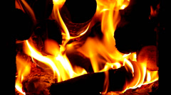 Flame of hot fire Stock Footage