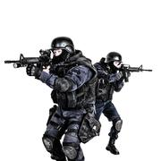 SWAT team in action Stock Photos