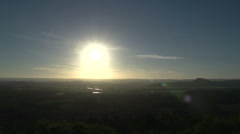 Sunset time lapse from Mount Coolum in Queensland, Australia Stock Footage