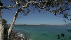 View from the coastal walk Noosa National Park, Queensland, Australia Stock Footage