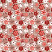 Seamless floral pattern. flowers texture. daisy. Stock Illustration