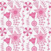 seamless texture with flowers. endless floral pattern. seamless pattern can b - stock illustration