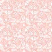seamless paisley texture for your design. endless pattern with paisley. - stock illustration