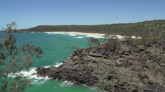 Hell's Gate Coastal track in Noosa National Park, Stock Footage