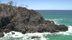 Hell's Gate Coastal track in Noosa National Park Stock Footage