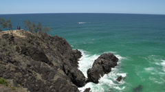 Hell's Gate in Noosa National Park, Queensland, Australia Stock Footage