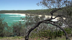 Beach in Noosa National Park, Queensland, Australia Stock Footage