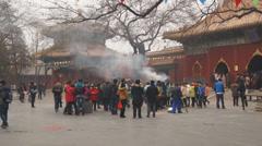 Beijing Lama Temple Yonghegong 01 Stock Footage