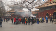 Stock Video Footage of Beijing Lama Temple Yonghegong 01