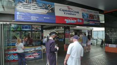 Captain cook ferry terminal at circular quay, sydney, australia Stock Footage