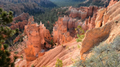 bryce canyon hoodoos thors hammer utah 1.mp4 - stock footage