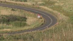 A car driving along a road near Clarens Stock Footage