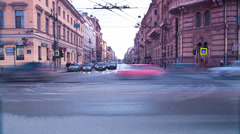 Crossroads of Zhukovsky street and Liteyniy prospect. St. Petersburg. Russia - stock footage
