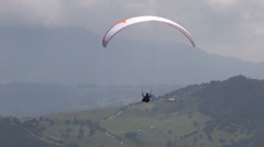 Tranquil, Peaceful, Calm, Paragliding, Extreme Sports Stock Footage