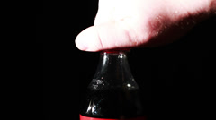 Soda Bottle Being Open Up - stock footage