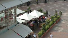 Cafe at circular quay cruise ship terminal, sydney, australia Stock Footage