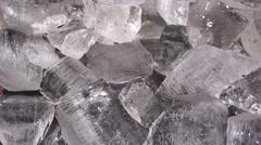 Closeup shot ice cubes Stock Footage