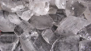 Stock Video Footage of Closeup shot ice cubes