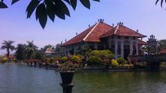 Taman ujung palace Bali Stock Footage