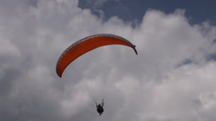 Parasailing in Clouds, Paragliding, Sky Diving Stock Footage