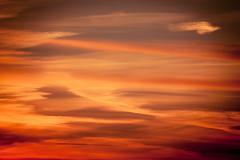 Dramatic sunset as sky background Stock Photos