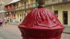 Tilt down of red post box at the rocks, sydney, australia Stock Footage
