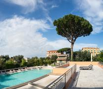 swimming pool at hotel. italia - stock photo